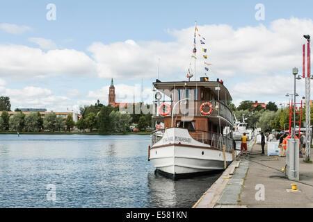 Lake Boat in Finland - Stock Photo