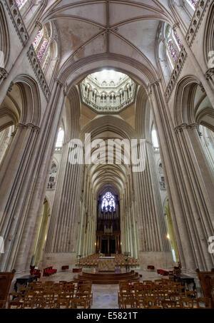 Gothic Coutances Cathedral, Coutances, Cotentin Peninsula, Département Manche, Lower Normandy, France - Stock Photo