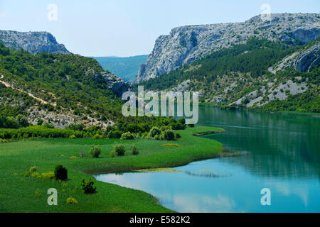 Krka river, Krka National Park, Roški Slap, Croatia - Stock Photo
