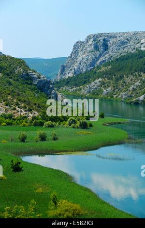 Krka river, Krka National Park, Roški Slap, Croatia - Stock Photo