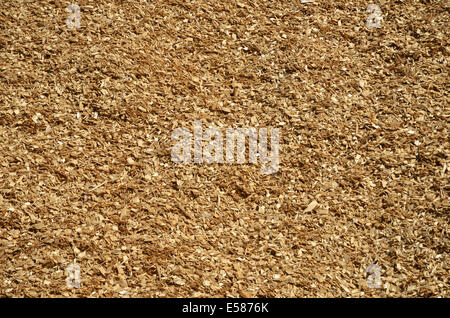 Background of newly made  wooden chips - Stock Photo