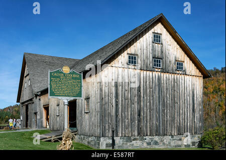 The Wilder horse barn, part of the Calvin Coolidge Homestead historic site, Plymouth Notch, Vermont, USA - Stock Photo