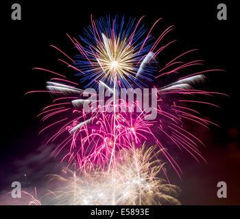 A firework display - Stock Photo