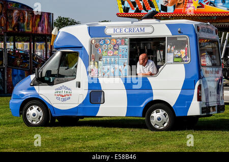 An ice cream van at the Brentwood Festival. - Stock Photo