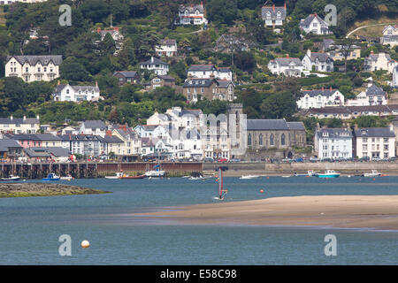 Borth, Wales, UK. 23rd July, 2014. Weather: Families head for the beaches at Borth and Ynyslas on the mid Wales - Stock Photo