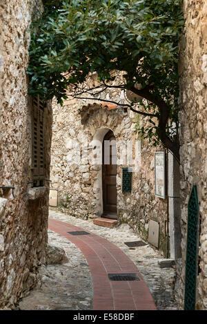 Medieval architecture, Eze, Cote d'Azur, France - Stock Photo