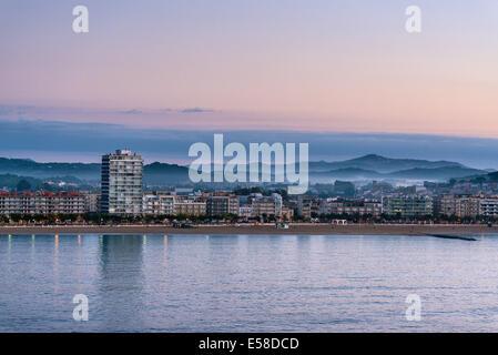 Panoramic view of Calonge, Catalonia, Spain - Stock Photo