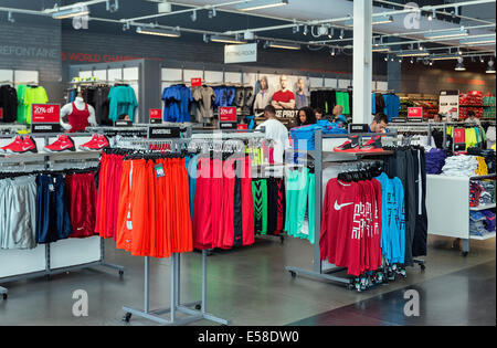 Nike factory store outlet atlantic city new jersey usa stock photo royalty free image for Interior alternatives manufacturers outlet mall