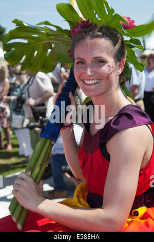 Tatton Park, Manchester, UK. 23rd July, 2014.  Cabasa Carnival Arts at the RHS - Royal Horticultural Society  carnival - Stock Photo