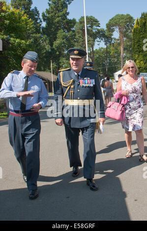Llanelwedd, UK. 23rd July 2014.  Air Marshall Barry (Baz) Mark North, OBE, MA, RAF, visits The Royal Welsh Show. - Stock Photo