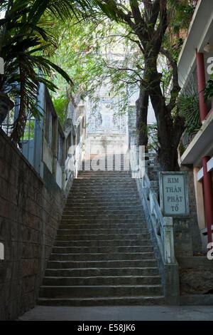 Stairs at Long Son Pagoda, Nha Trang - Stock Photo