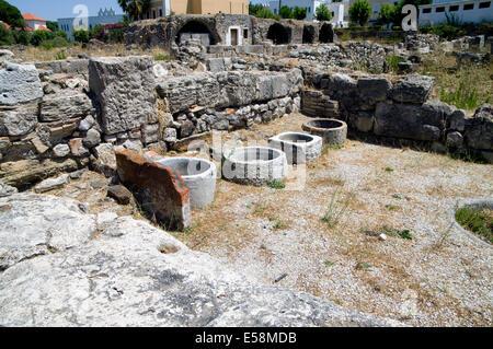 Remains of the Ancient Agora,  Kos Town, Kos Island, Dodecanese Islands, Greece.