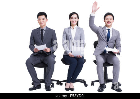 Candidates in an interview - Stock Photo