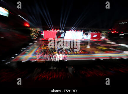 Glasgow, Scotland, UK. 23rd July, 2014. The XX Commonwealth Games is opened at the Celtic Park in Glasgow, Britain, - Stock Photo