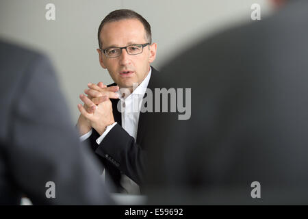 Berlin, Germany. 24th July, 2014. German Justice Minister Heiko Maas during an interview at the dpa in Berlin, Germany, - Stock Photo