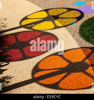 Tatton Park, Manchester, UK. 23rd July, 2014.  Circular Images. and Coloured shadows, coloured circles, spinning - Stock Photo