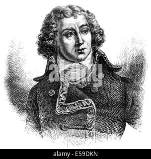 Louis Alexandre Berthier, 1753 - 1815, a Marshal of France, - Stock Photo