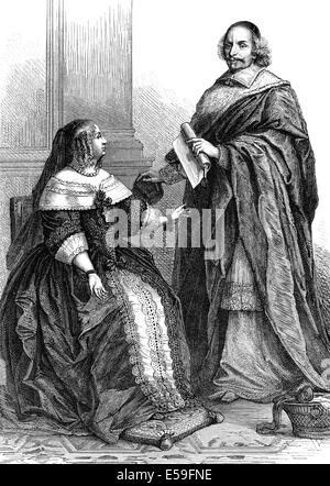 anne of austria 1601 1666 queen consort of france wife of louis stock photo royalty free. Black Bedroom Furniture Sets. Home Design Ideas