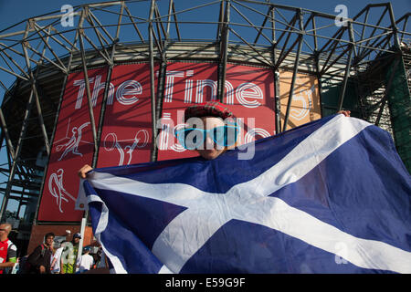 23rd July 2014. Glasgow Scotland. Commonwealth Games Glasgow 2014, opening ceremony at Celtic Park. Photo Pauline - Stock Photo