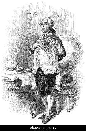 Louis XVI. Augustus of France, 1754 - 1793, King of France and Navarre, French Revolution, Ludwig XVI. - Stock Photo