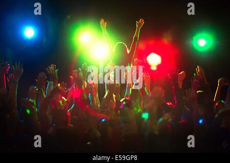 Audience enjoying concert - Stock Photo