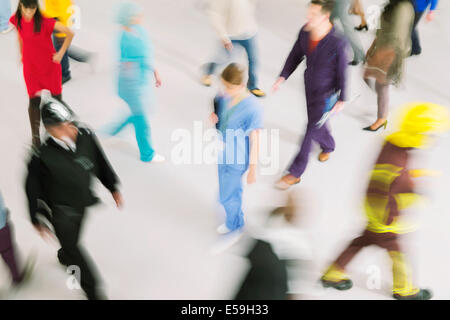 Workforce on the move - Stock Photo