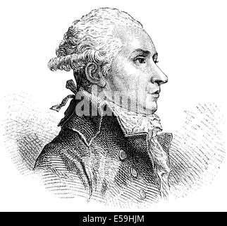 Pierre Victor, baron Malouet, 1740-1814, a French slave-owner, conservative publicist and monarchist politician - Stock Photo