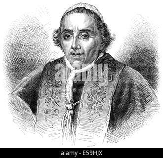 Pope Pius VII, 1742-1823, born Barnaba Niccolò Maria Luigi Chiaramonti, - Stock Photo