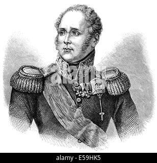 Alexander I, Alexander the Blessed, 1777-1825, Emperor of Russia, - Stock Photo