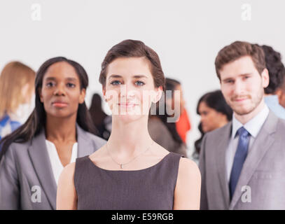 Portrait of confident business people - Stock Photo