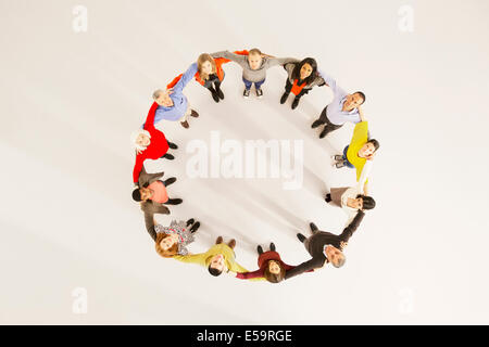 People connected in circle - Stock Photo