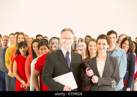 Portrait of confident business people - Stock Photo