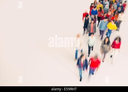 Crowd walking - Stock Photo