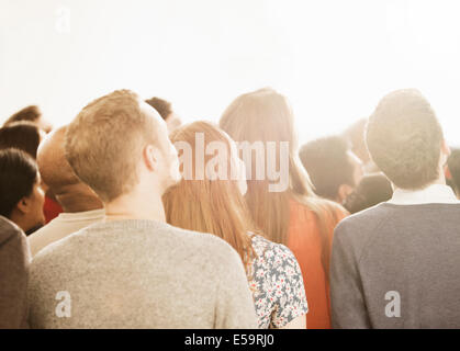 Business people looking up - Stock Photo