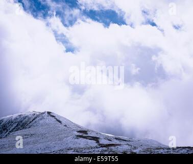 Cloud and snow The Maurerkogel from The Schmittenhohe above Zell am See Pinzgau Salzbergerland Austria - Stock Photo