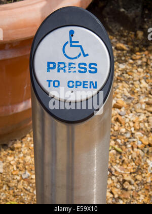 A Disabled Access Button For A Door Stock Photo Royalty