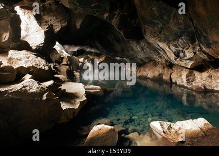 Grjotagja Cave - Myvatn, Iceland - Stock Photo