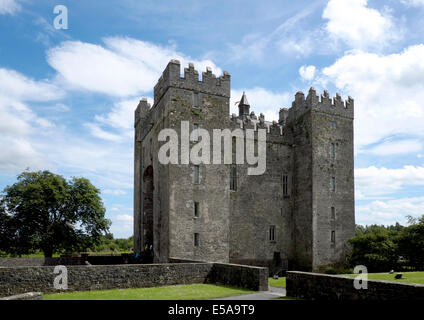 Bunratty Castle, near Limerick, County Clare, Ireland - Stock Photo