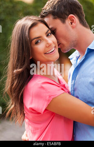 Romantic moments for lovely couple, Debica, Poland - Stock Photo