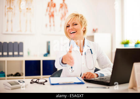 Welcome in my doctor's office, Debica, Poland - Stock Photo