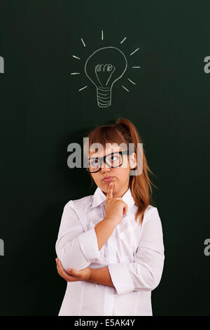 I looking for good idea in my mind, Debica, Poland. - Stock Photo