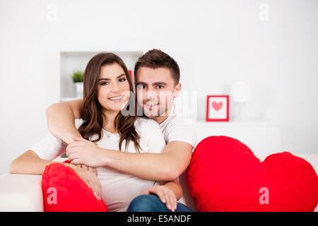 Portrait of loving couple Debica, Poland - Stock Photo