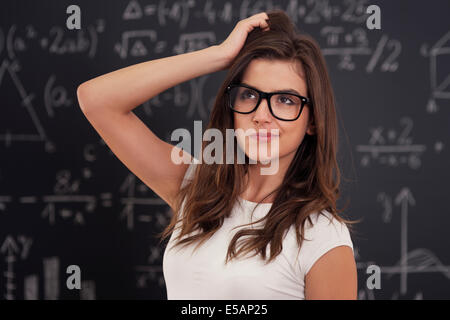 I don't know how solving mathematical equation Debica, Poland - Stock Photo