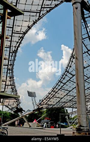 Deutschland, Germany,Bavaria,Bayern,Muenchen,Munich, Olympia-Park, Olympiade,1972, Fussball,Football,Stadion, - Stock Photo