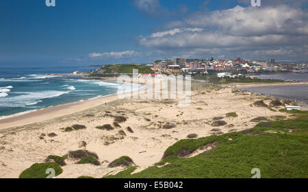 Nobbies beach Newcastle a big industrial city in Australia with wonderful beaches - Stock Photo