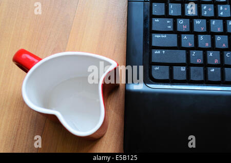 Love internet concept heart glass - Stock Photo