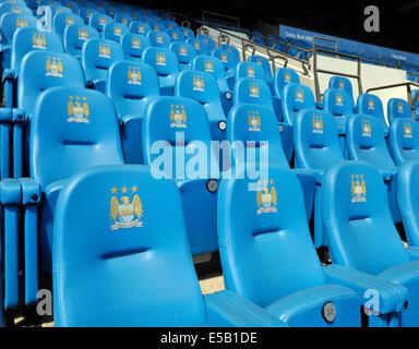Etihad (formerly the City of Manchester) Stadium, home of Manchester City Football Club, Manchester, England, UK. - Stock Photo