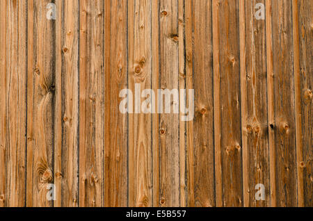 Wood of boards as wall is bleached and weathered - Stock Photo