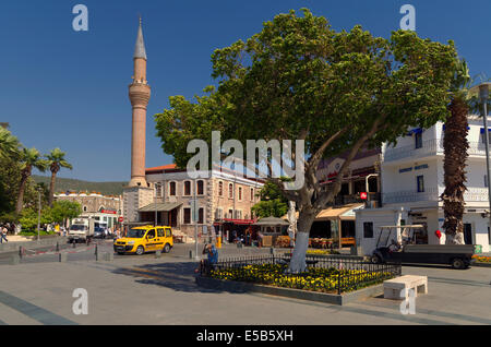 Bodrum town centre and mosque, Mugla Province, Turkey - Stock Photo