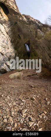 Bull Rock Cave in Moravian Karst, Czech Republic - Stock Photo